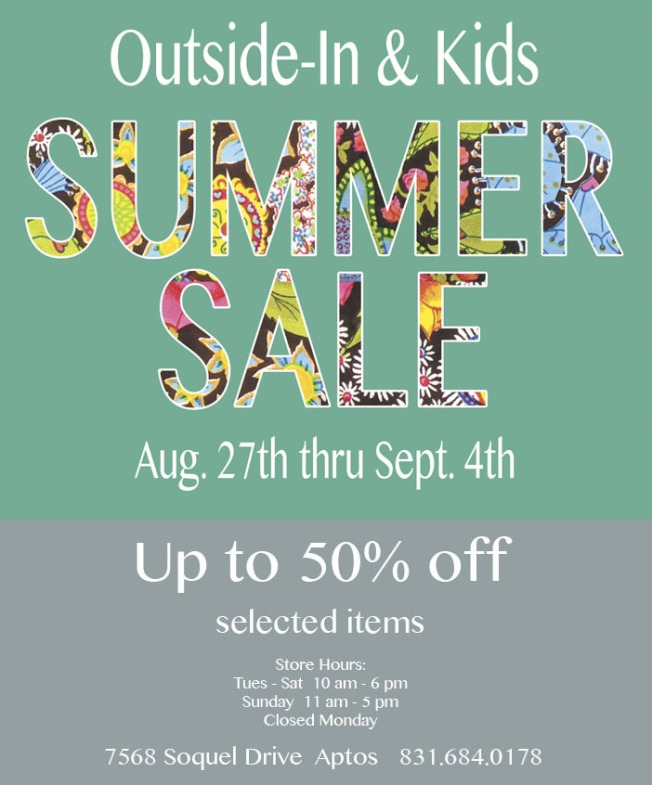 Summer sale email 2016